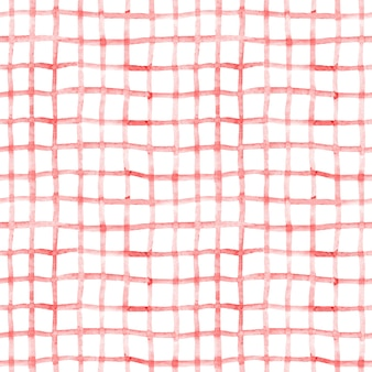 Sfondo trasparente con linee rosse disegnate a mano