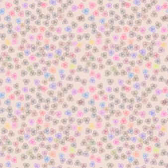Modello di fiori colorati senza soluzione di continuità su sfondo rosa