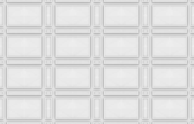 Sfondo di muro di forma rettangolare bianco design moderno senza soluzione di continuità.