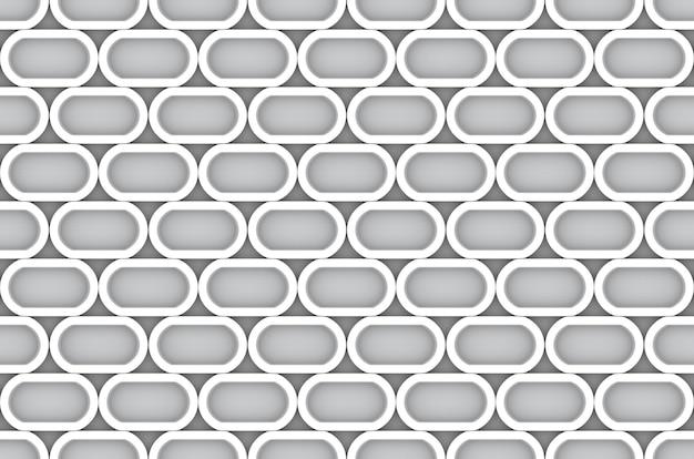 Fondo ovale bianco moderno senza cuciture della parete del modello di forma.