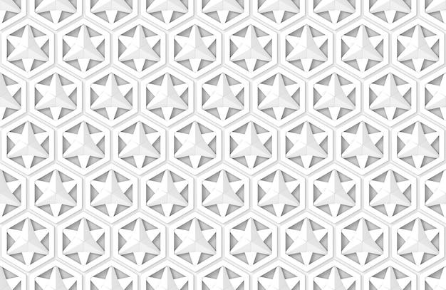 Stella bianca moderna senza cuciture nel fondo della parete del modello di forma esagonale