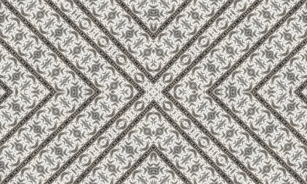 Mosaico senza soluzione di continuità. caleidoscopio di foglie monocromatiche. carta batik grigia. persone caleidoscopio monocromatico. rosa di vetro macchiata. acquerello astratto moderno bianco.