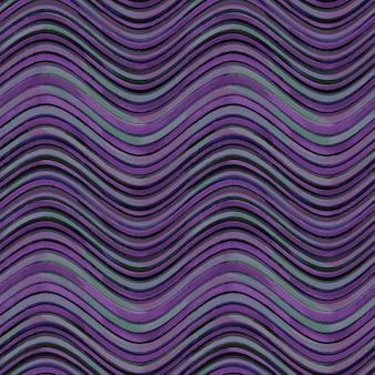 Modello senza soluzione di continuità. fondo geometrico astratto a strisce ondulato di lerciume grigio e viola nero