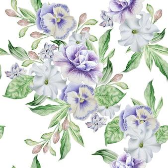 Modello senza saldatura con bellissimi fiori