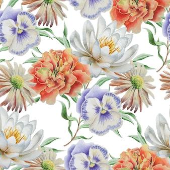 Modello senza saldatura con fiori