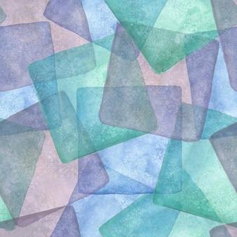 Modello senza cuciture con quadrati colorati disegnati a mano