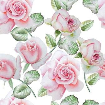 Modello senza saldatura con rose