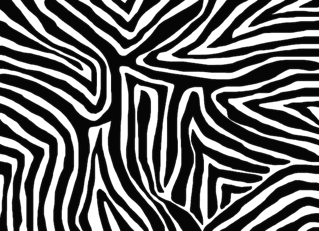Motivo senza cuciture con pelle di zebra