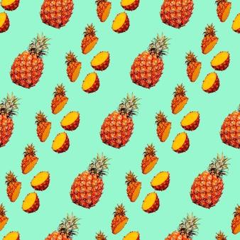 Modello fotografico senza cuciture sfondo ananas utilizzare per inviti biglietti di auguri poster di carta da imballaggio