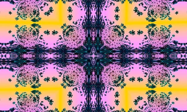 Modello colorato mosaico rosa senza cuciture con punti. ornamento etnico tradizionale. utilizzare per carta da parati, riempimenti a motivo, design tessile