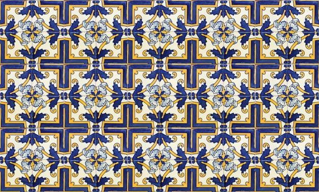 Fondo senza cuciture delle mattonelle di azulejo del portogallo o della spagna