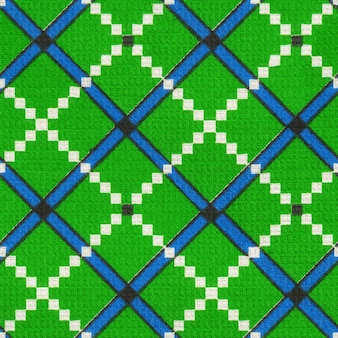Seamless tessili tovagliolo asciugamano tessuto pattern texture tessile cella blu verde