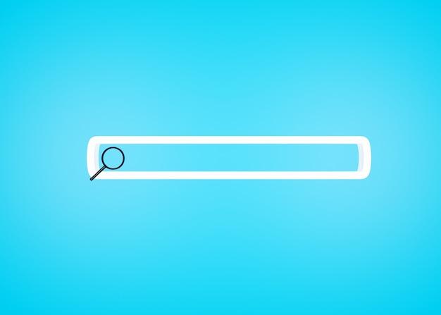 Cerca o lente d'ingrandimento nella barra di ricerca vuota