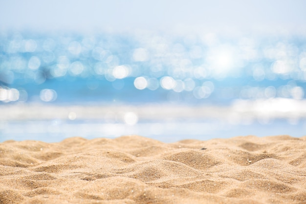 Fondo astratto della spiaggia di vista sul mare.
