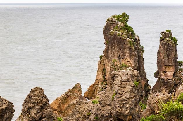 Paesaggi marini dell'isola del sud del parco nazionale di paparoa della nuova zelanda