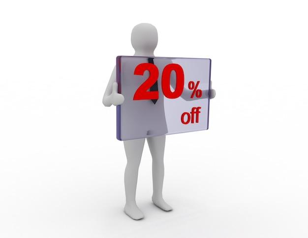 Saldi stagionali 20 percento di sconto per lo sconto sullo shopping