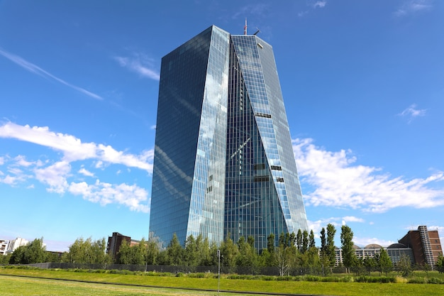 Sede della banca centrale europea a francoforte, germania