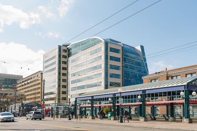 Seattle, washington, stati uniti. l'area della stazione ferroviaria