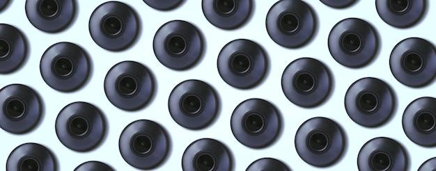 Telecamera di sicurezza cctv pattern, abstract cyber security sorveglianza texture di sfondo, immagine panoramica