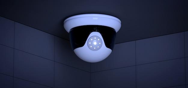 Sistema della macchina fotografica del cctv di sicurezza - rappresentazione 3d