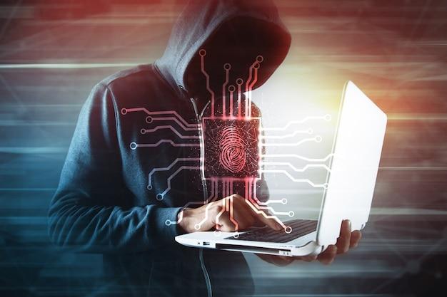 Concetto digitale di codice di dati di sicurezza