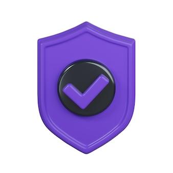 Icona dello scudo di sicurezza isolato su bianco