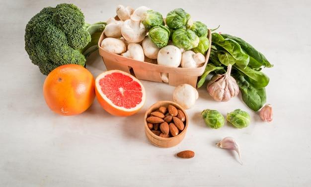 Selezione di prodotti per migliorare la salute e l'immunità