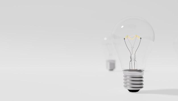 Messa a fuoco selettiva. ho un'idea e voglio proteggerla. brevettare un'idea. eureka, ho un'idea. simbolo della lampadina relativo a un'idea. la lampadina si è accesa. sfondo bianco.