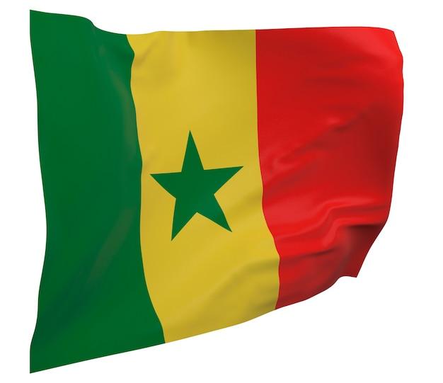 Bandiera del senegal isolato. banner sventolante. bandiera nazionale del senegal