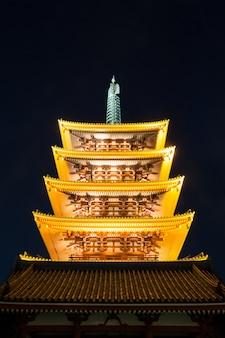 Tempio di senjoji a tokyo in giappone