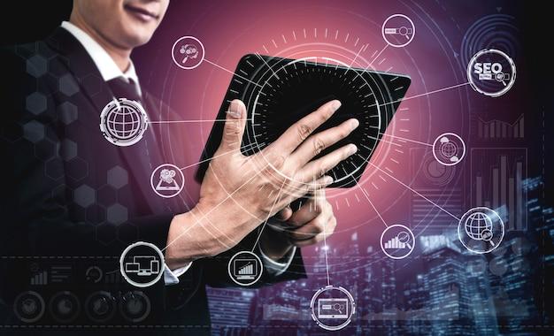 Concetto di affari di ottimizzazione dei motori di ricerca seo