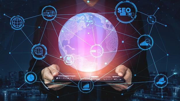 Concetto di affari di seo search engine optimization