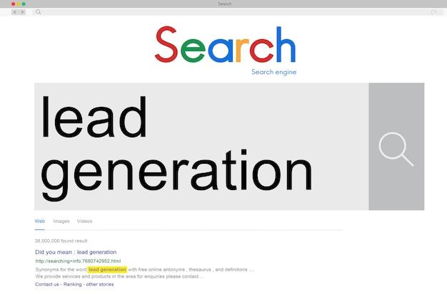 Seo ricerca parola connessione internet concept