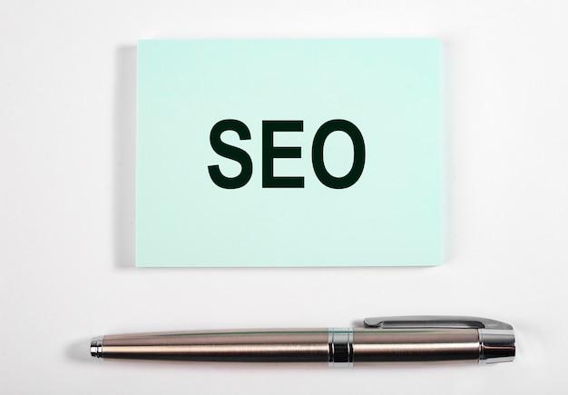 Parola seo, acronimo. ottimizzazione del motore di ricerca.