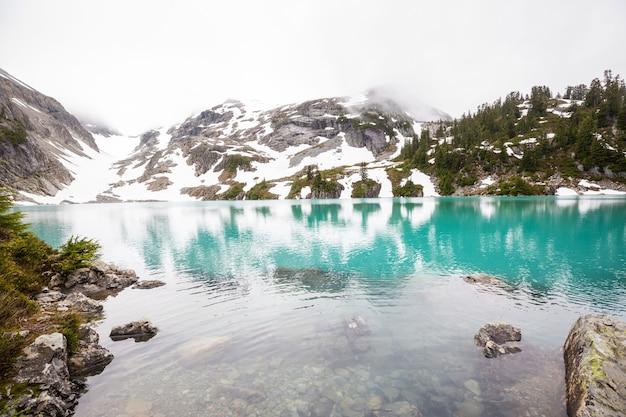 Lago di serenità in montagna nella stagione estiva.