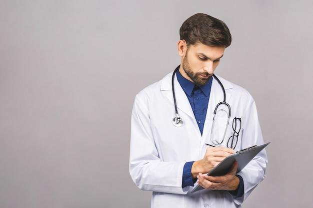 Ricetta di scrittura del medico serio negli appunti,