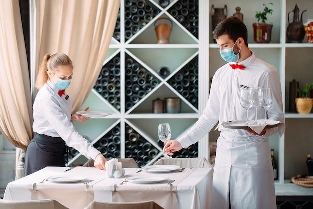 Il team di servizio di un ristorante