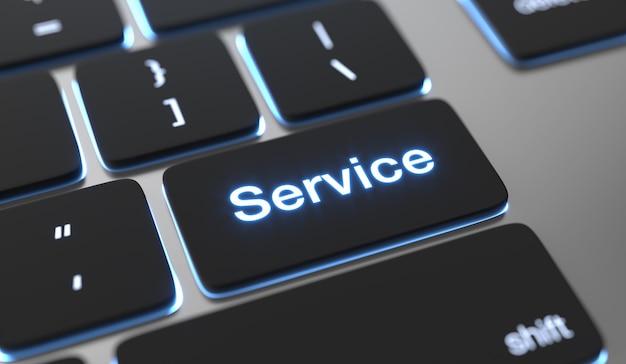 Testo di servizio scritto sul pulsante della tastiera.