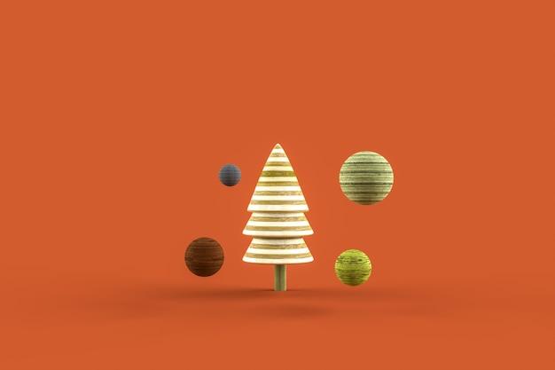 Set di abstract render alberi e palline