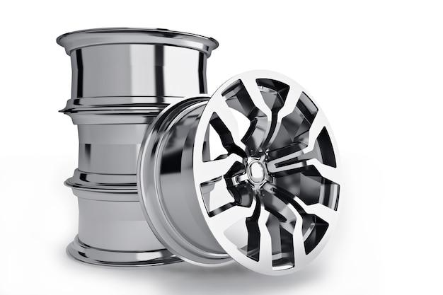Set di pneumatici per ruote auto isolati