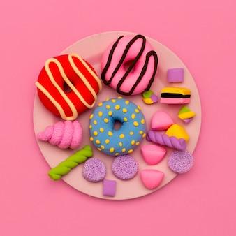 Impostare ciambelle e dolci