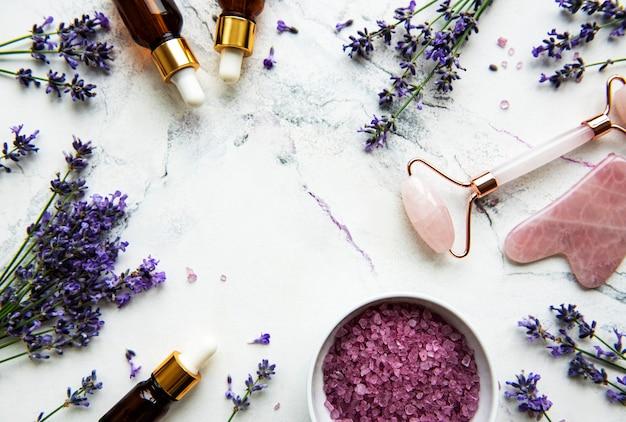 Set di cosmetici biologici naturali spa