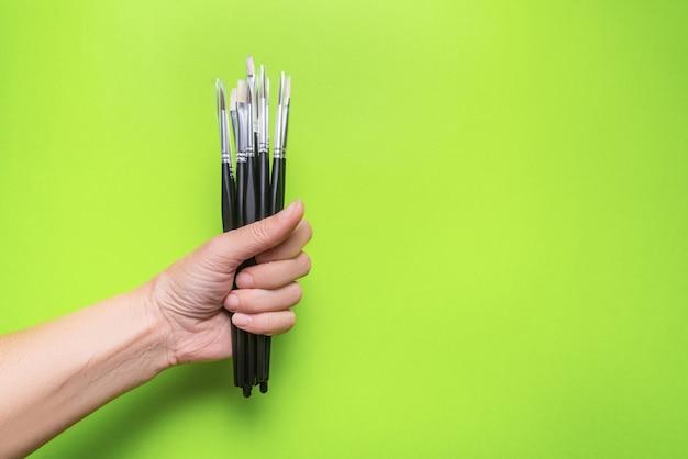Set di pennellate e acquerelli opachi