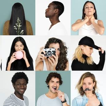 Set di ritratti di persone