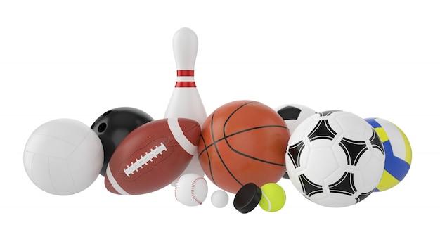 Set di palloni sportivi.
