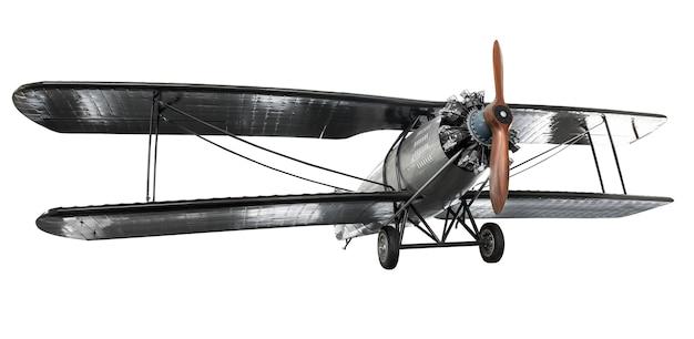 Insieme dell'aeroplano antico di lotta d'acciaio isolato