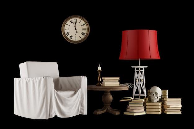 Set di oggetti vintage e mobili