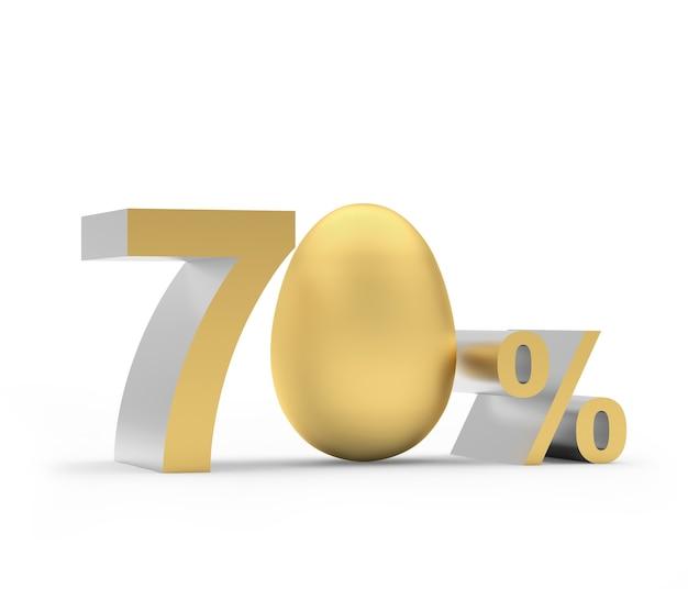 Il settanta per cento con l'uovo di pasqua dorato