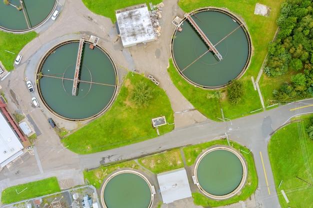 Pulizia dell'aerazione delle acque reflue nel processo di trattamento delle acque reflue, impianto di trattamento biologico