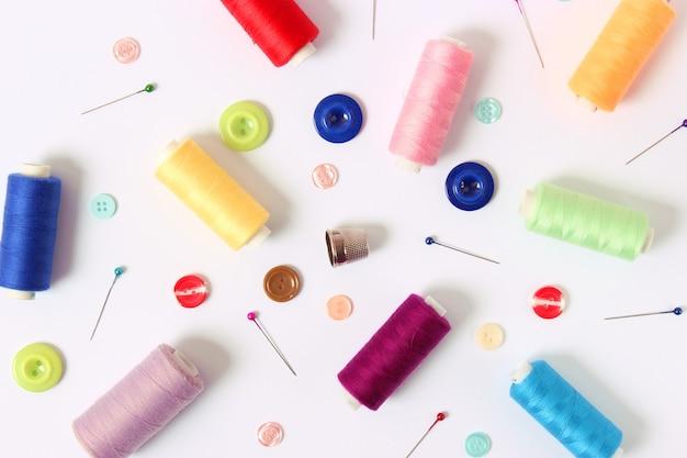 Accessori per cucire closeup hobby tessuti e fili per cucire for